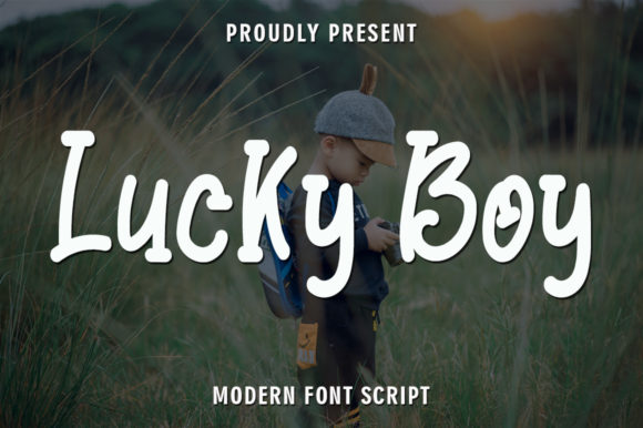 Print on Demand: Lucky Boy Display Font By rangkaiaksara