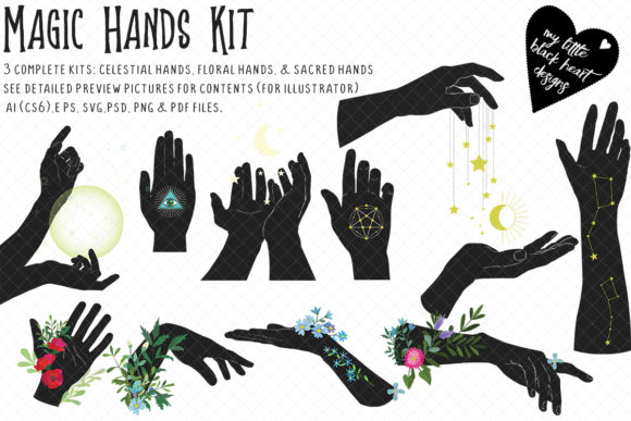 Magic Hands Bundle Graphic Illustrations By My Little Black Heart