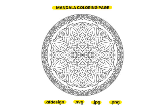 Print on Demand: Mandala Coloring Page Design 17 Graphic Coloring Pages & Books Adults By doridodesign