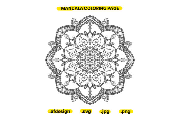 Print on Demand: Mandala Coloring Page Design 18 Graphic Coloring Pages & Books Adults By doridodesign