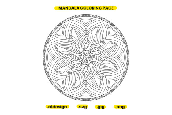 Print on Demand: Mandala Coloring Page Design 19 Graphic Coloring Pages & Books Adults By doridodesign