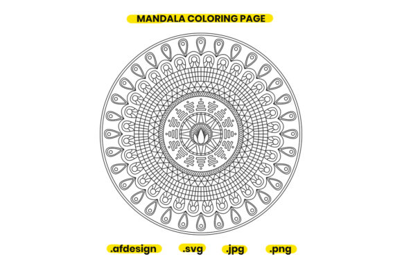 Print on Demand: Mandala Coloring Page Design 20 Graphic Coloring Pages & Books Adults By doridodesign
