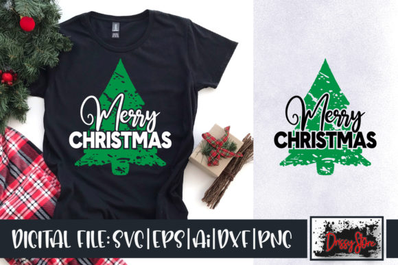 Merry Christmas Grunge Graphic Illustrations By DrissyStore