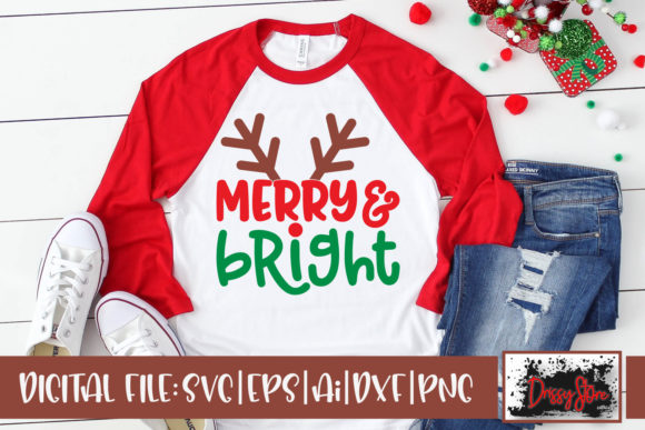 Merry and Bright Graphic Crafts By DrissyStore