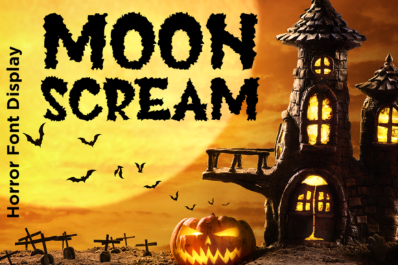 Print on Demand: Moon Scream Display Font By Haksen