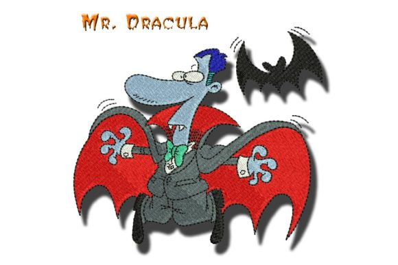 Mr Dracula Halloween Embroidery Design By BabyNucci Embroidery Designs
