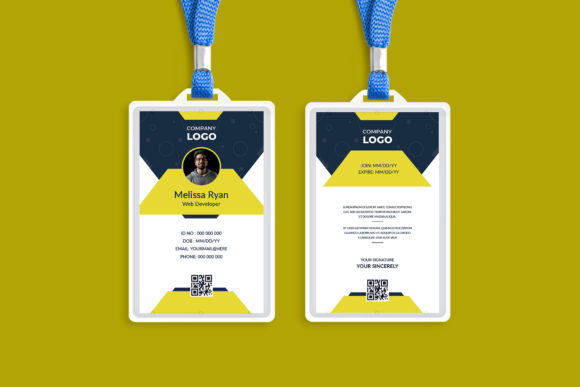 Multipurpose Business ID Card Design Graphic Print Templates By Pixelpick