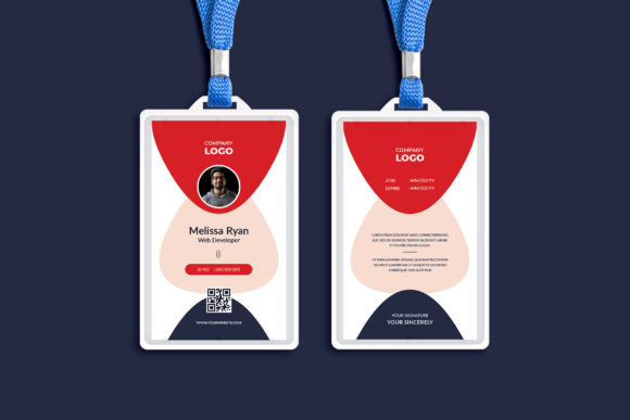 Office ID Card Design Template Graphic Print Templates By Pixelpick