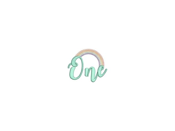 One Year Rainbow Birthdays Embroidery Design By carasembor