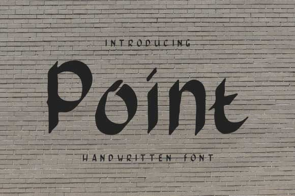 Print on Demand: Pointed Script & Handwritten Font By Yafont