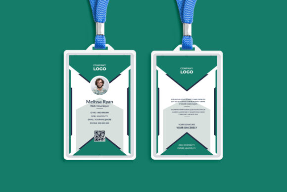 Professional ID Card Design Template Graphic Print Templates By Pixelpick