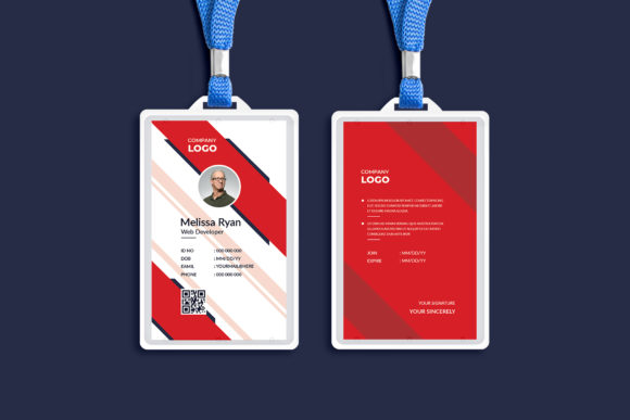 Professional ID Card Template Design Graphic Print Templates By Pixelpick