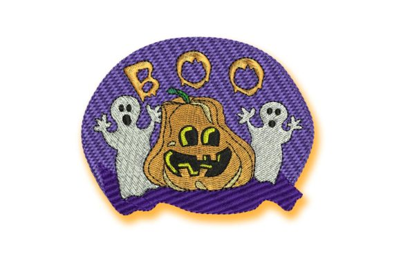 Pumpkin Boo Halloween Embroidery Design By BabyNucci Embroidery Designs