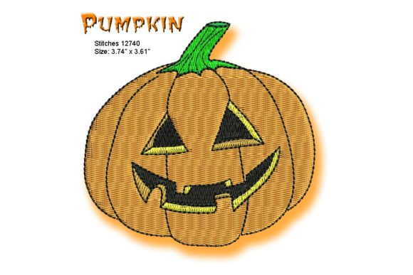 Pumpkin Halloween Embroidery Design By BabyNucci Embroidery Designs