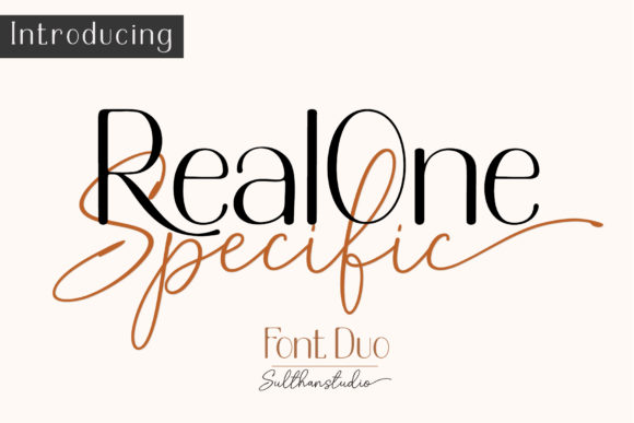 Print on Demand: Real One Specific Script & Handwritten Schriftarten von Sulthan Studio