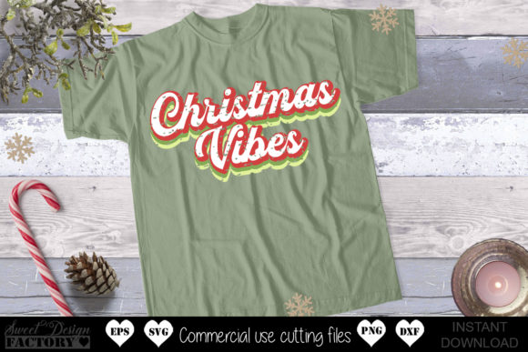 Print on Demand: Retro Christmas Graphic Illustrations By SweetDesignFactory