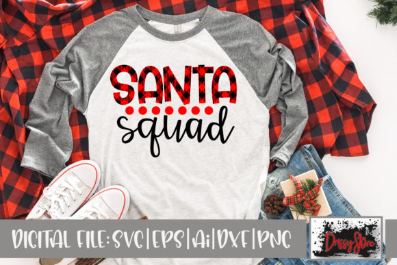 Santa Squad Graphic Crafts By DrissyStore