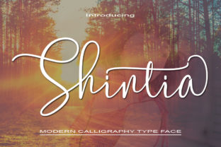 Print on Demand: Shintia Script & Handwritten Font By parawtype