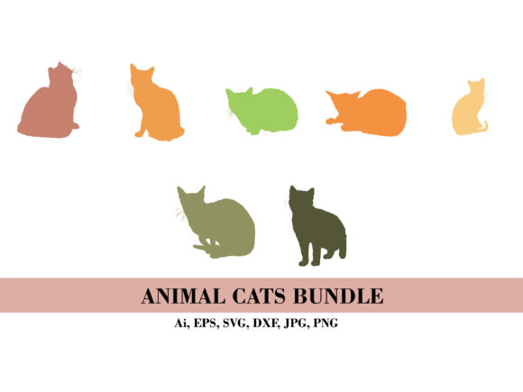 Silhouette Bundle of Birds Animal Graphic Illustrations By themagicboxart