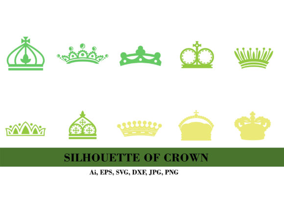 Silhouette of Crown Bundle Graphic Illustrations By themagicboxart