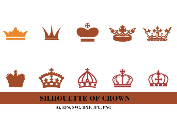 Silhouette of Maroon Crown Graphic Illustrations By themagicboxart
