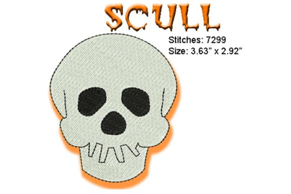 Skull Halloween Embroidery Design By BabyNucci Embroidery Designs