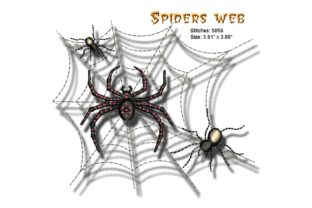 Spiders Web Halloween Embroidery Design By BabyNucci Embroidery Designs