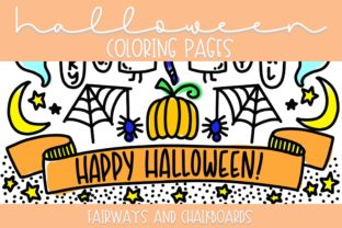 Print on Demand: Spooky Halloween Coloring Pages Graphic Coloring Pages & Books By Fairways and Chalkboards