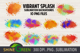 Print on Demand: Sublimation Background Bundle Watercolor Graphic Backgrounds By ShineGreenArt