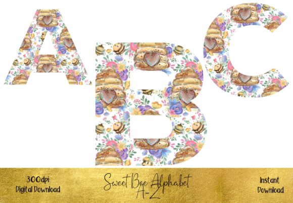 Sweet Bee Alphabet Graphic Illustrations By STBB