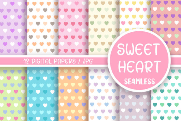 Sweet Heart Seamless Pattern Graphic Patterns By PinkPearly