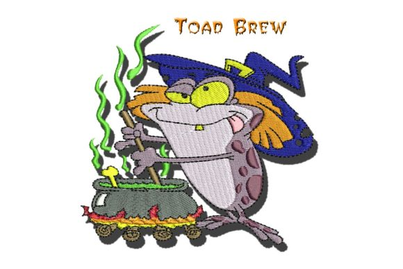 Toad Brew Halloween Embroidery Design By BabyNucci Embroidery Designs