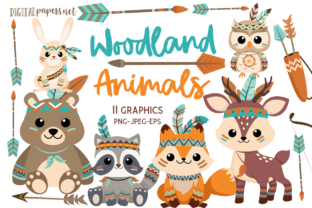 Print on Demand: Woodland Animals Graphic Illustrations By DigitalPapers
