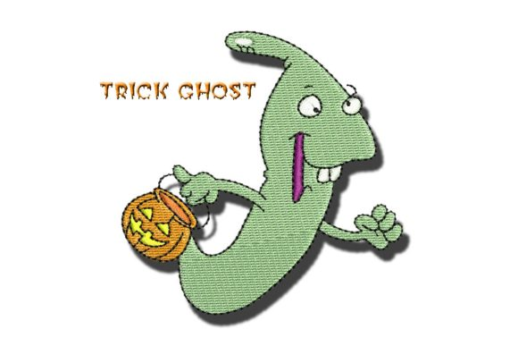 Trick Ghost Halloween Embroidery Design By BabyNucci Embroidery Designs