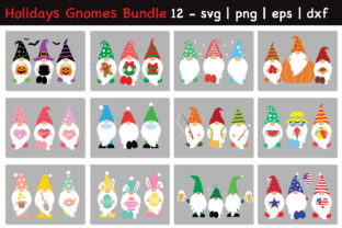 Print on Demand: Ultimate Holidays Gnomes Bundle Vol 2 Graphic Crafts By All About Svg