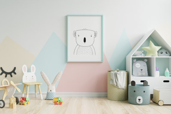 Print on Demand: Wall Art,Cute Koala Bear Animal Clip Art Graphic Illustrations By Saydung89