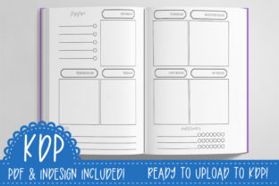 Print on Demand: Weekly & Monthly Planner | KDP Ready PDF Graphic KDP Interiors By planfantastic