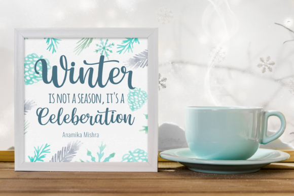 Winter Beauty Font Design Item