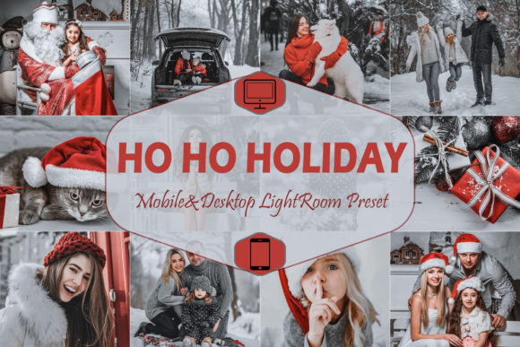 Print on Demand: 10 Ho Ho Holiday Lightroom Presets Graphic Actions & Presets By Mattte Studio