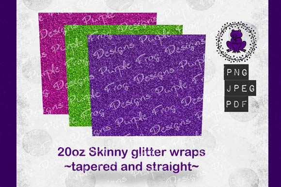 20oz Tumbler Skinny Glitter Wrap Bundle Graphic Textures By Heather Terry