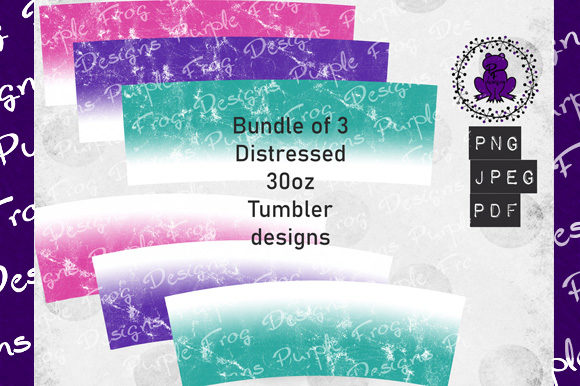 30oz Tumbler Bundle, Distressed Grunge Graphic Backgrounds By Heather Terry