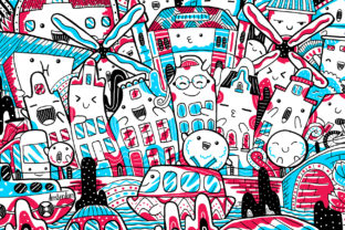 Amsterdam City Illustration Graphic Illustrations By medzcreative