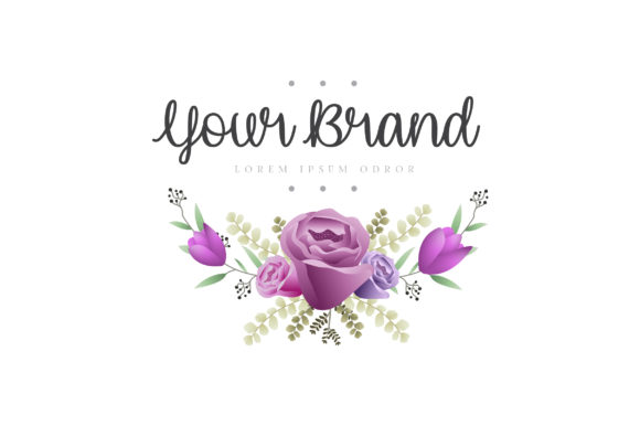 Print on Demand: Beautiful Creative Floral Logo Design Graphic Logos By Dzyneestudio