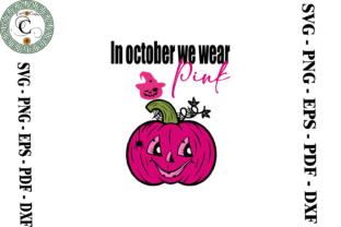 Print on Demand: Breast Cancer Pumpkin Vector Graphic Print Templates By Cricut Creation