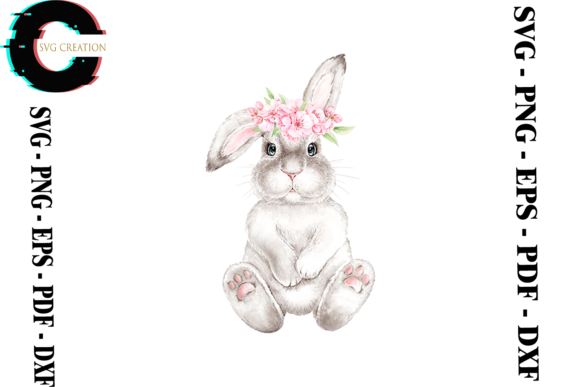 Print on Demand: Bunny Vector Rabbit Lover Clipart PNG Graphic Print Templates By SVG Creation