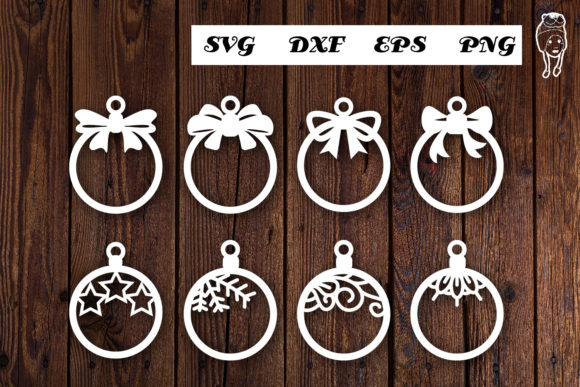 Print on Demand: Christmas Ball Hangers Graphic Print Templates By dadan_pm
