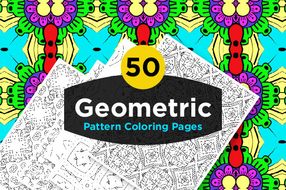 Print on Demand: Geometric Coloring Pattern Set for Adult Graphic Coloring Pages & Books Adults By Riduwan Molla