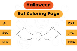 Halloween Coloring Page - Bat 02 Graphic Coloring Pages & Books Kids By isalsemarang