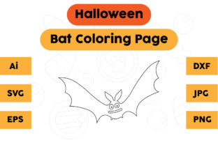 Halloween Coloring Page - Bat 10 Graphic Coloring Pages & Books Kids By isalsemarang