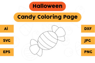 Halloween Coloring Page - Candy 01 Graphic Coloring Pages & Books Kids By isalsemarang